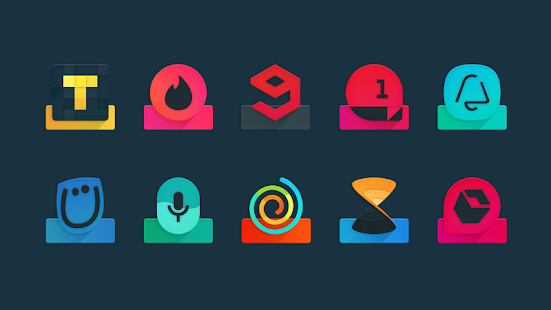 Ombre - Icon Pack - náhled