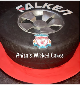 Falken shaped tyre cake
