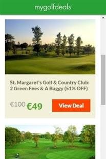My Golf Deals - náhled