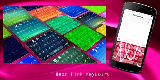 Neon Pink Keyboard