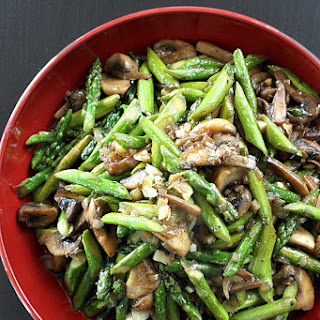 Asparagus and Mushroom Stir Fry in Mushroom Sauce Recipe