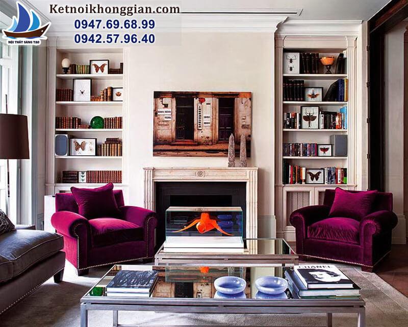 thiết kế phòng đọc sách gia đình sang chảnh