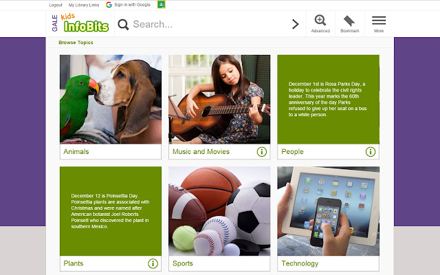 kids infobits - Kids Home Pages