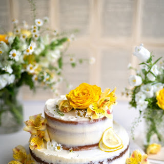 Lemon And Elderflower Wedding Cake.