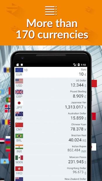 Currency converter - convert money, exchange rates Android App Screenshot