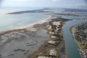 Photo: As showcased in this aerial, the Rachel Carson Reserve encompasses many habitat types.