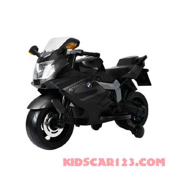 xe moto điện trẻ em BMW K1600S màu đen