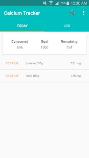 Calcium Tracker - náhled