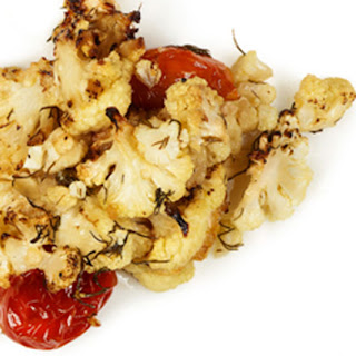 Crispy Cauliflower with Tomatoes and Dill Recipe