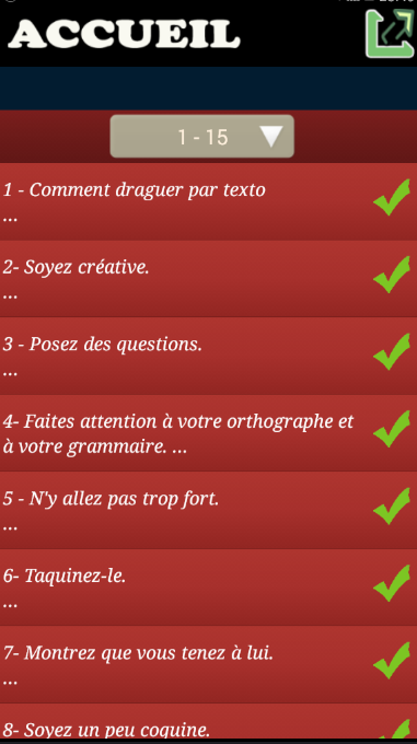 Draguer par texto- screenshot