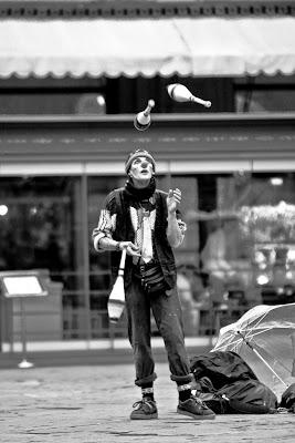 Il giocoliere di strada