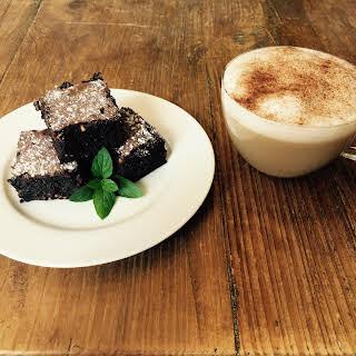 Chocolate Mint and Roast Hazelnut Brownie.