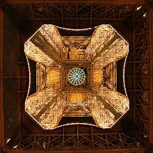Photo: Eiffel Tower from below