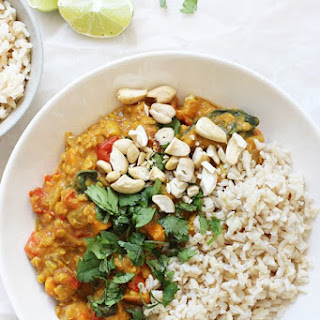 Slow Cooker Sweet Potato Spinach Curry.