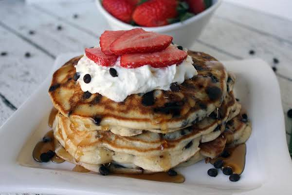 Strawberry Chocolate Chip Pancakes Just A Pinch Recipes