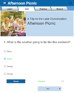 English Conversation Practice Screenshot
