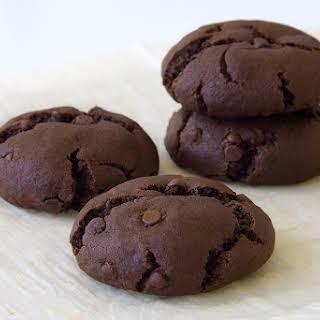 Vegan Double Chocolate Chip Cookies.