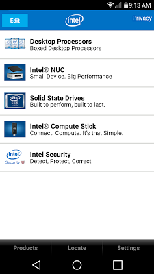Intel® Channel Products Guide - screenshot