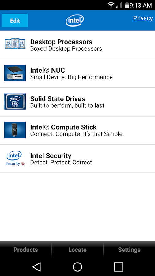 Intel® Channel Products Guide- screenshot