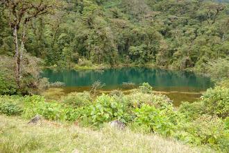 """Photo: """"pozo verde"""" - die grüne Lagune, ist so gefärbt wegen der Reaktion von..ehh..ja und so!"""