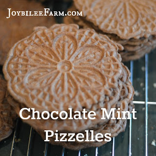 Chocolate Mint Pizzelles
