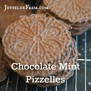 Chocolate Mint Pizzelles.