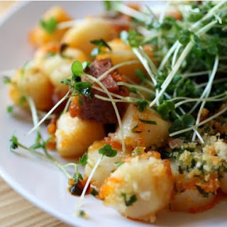 Crispy Broiled Scallops and Chorizo.
