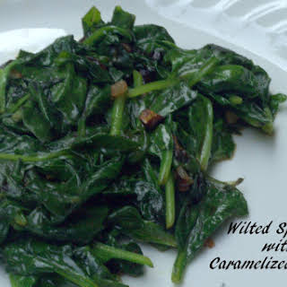 Wilted Spinach with Shallot.