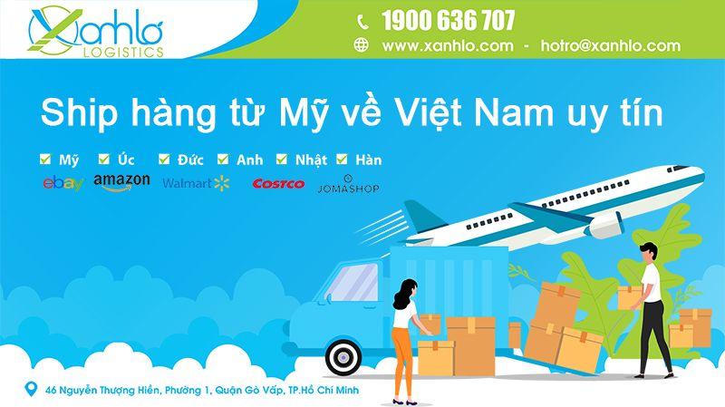 Quy trình ship hàng Mỹ về Việt Nam giá rẻ, đơn giản nhất tại Xanh Lơ