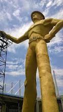 Photo: August 8-The Golden Driller in Tulsa, OK outside the convention center