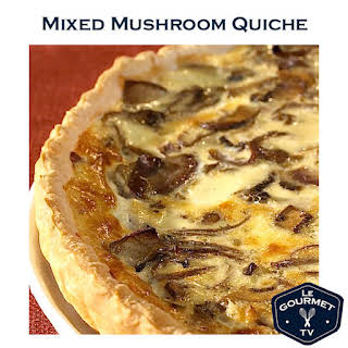 Mixed Mushroom Quiche.