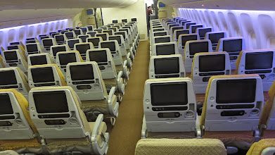 Photo: Check out the size of those seatback screens in economy class on Singapore Air's new B777-300ER