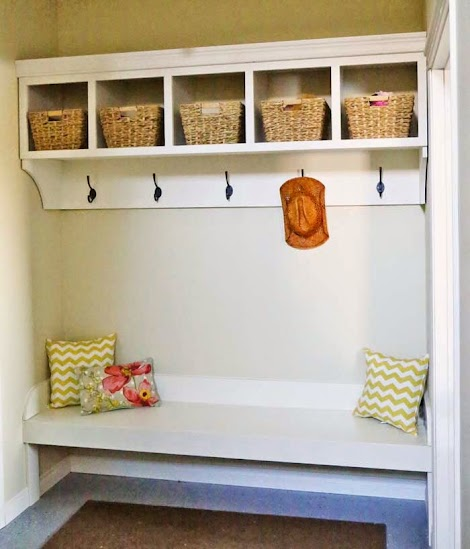 Ana White Large Custom Mudroom Organizer With Cubbies And Hooks Diy Projects