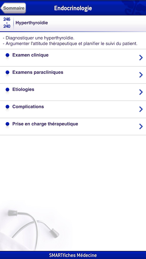 SMARTfiches Endocrino. Free- screenshot