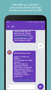 BNESIM International Voip calls, Free Roaming, DID- screenshot thumbnail