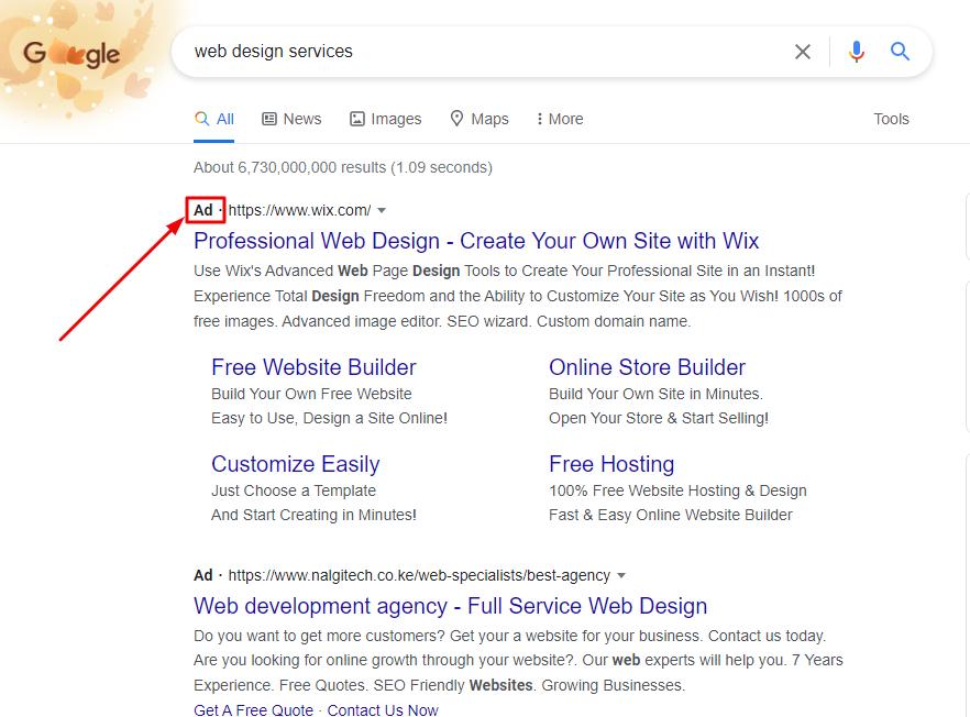Google PPC Marketing Example