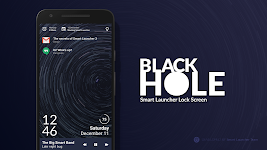 screenshot of Black Hole - Lock screen