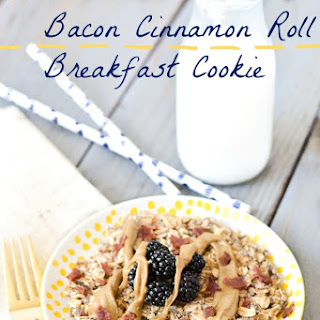 Bacon Cinnamon Roll Breakfast Cookie
