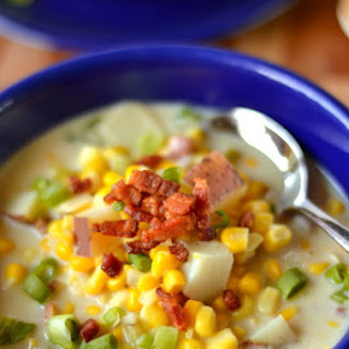 Cream of Corn Soup with Bacon.