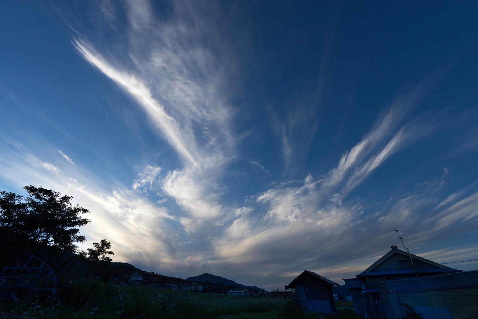 白い雲が舞う秋の空