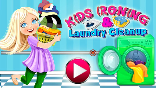 Kids Ironing Laundry Cleanup