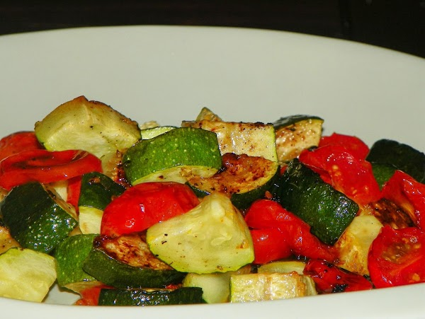 Roasted Tomatoes And Zucchini Recipe