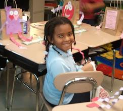 Photo: Kaleya @ school celebrating Valentine's Day