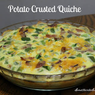 Potato Crusted Quiche.
