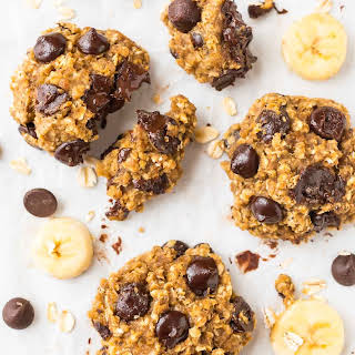 Oatmeal Banana Cookies with Chocolate Chips.