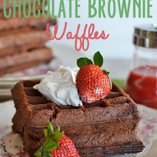 Chocolate Brownie Waffles