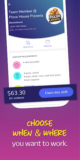 Screenshot for Snag Work- Flexible Shift Work in United States Play Store