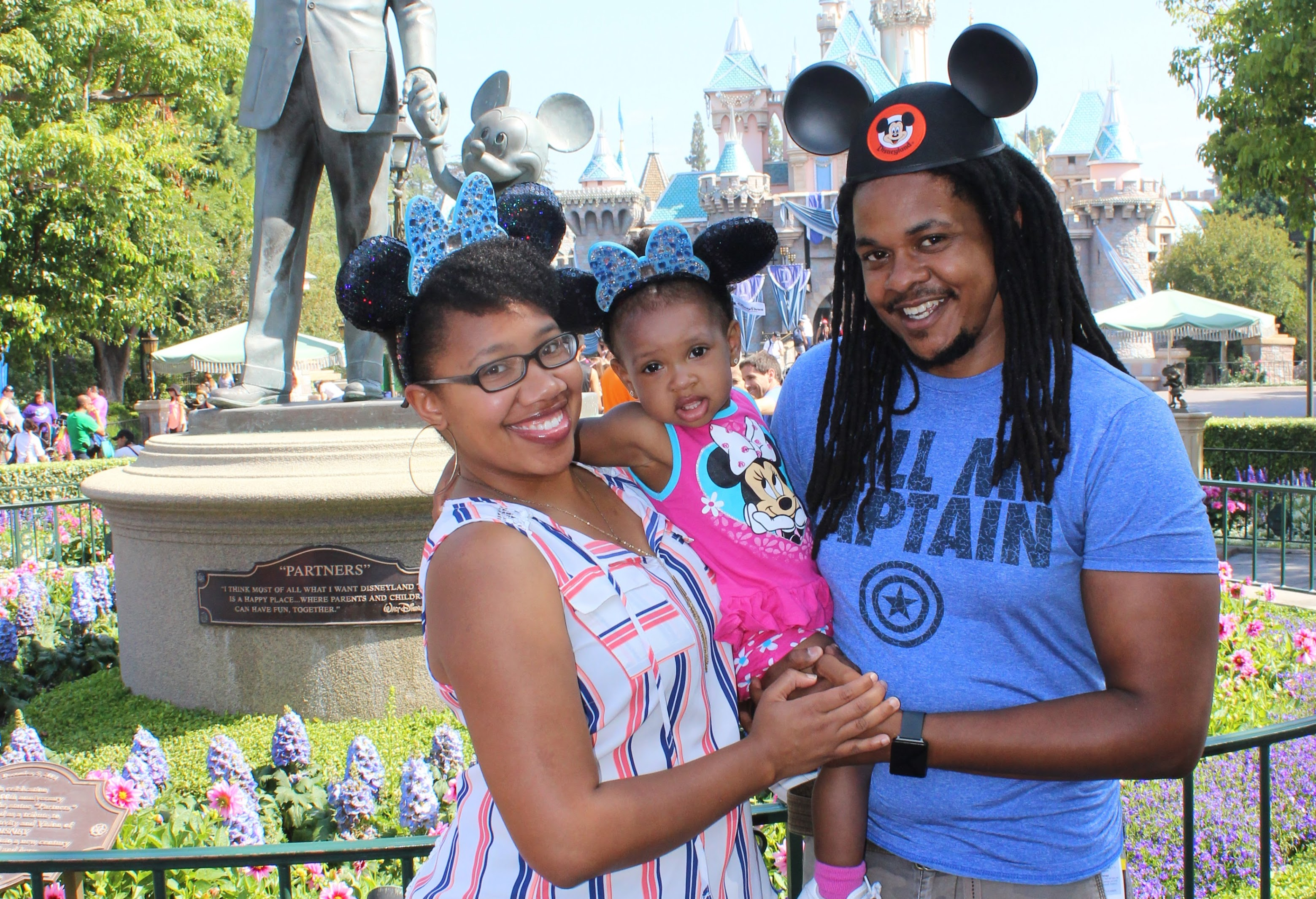 My wife, daughter and myself at Disneyland