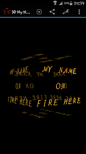 3D My Name On Fire Wallpaper screenshot 2