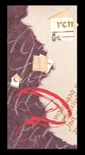 Photo: Fait lors d'un stage avec Edwige Timmerman, sur les calli-collages et la gothique batarde.  Cette image a été publiée dans un livre australien de calligraphie -- I like it. Done during an workshop with Edwige Timmerman, the calli-collages and gothic bastard.  This work is published in an australian calligraphy book !!